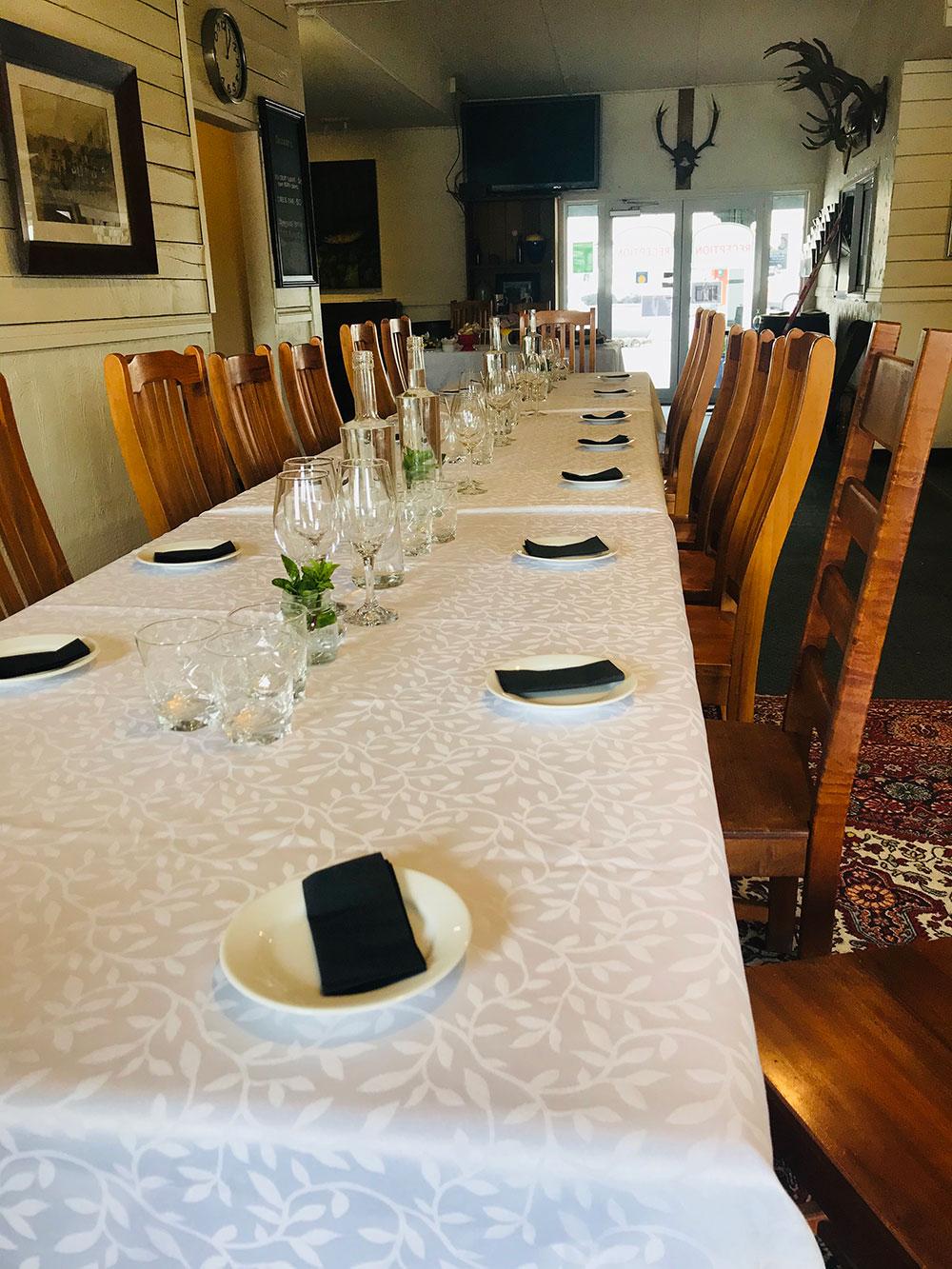 Dining at Dawsons Hotel in Reefton NZ